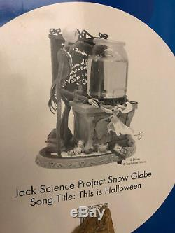 Disney Store Nightmare Before Christmas Snow Globe Jack's Science Project
