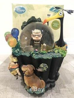 Disney Store Pixar Up Snow Globe RARE HTF Excellent Condition Carl Russell Dug
