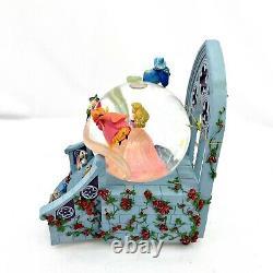 Disney Store RARE Aurora with Fairies Snow Globe