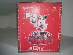 Disney Store Santa Mickey Figurine WithSnowglobe EX RARE HTF NEW IN BOX LARGE