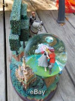 Disney Store Sleeping Beauty Snow Globe Large EUC Turning Globe