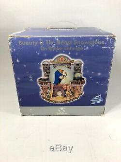 Disney Store Snowglobe Beauty & The Beast There's Something There Library Rose