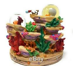 Disney Store The Little Mermaid Snow Globe Musical Under The Sea Music Box AS IS