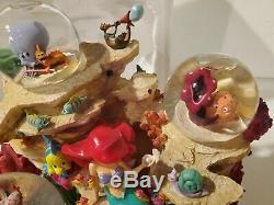 Disney Store The Little Mermaid Under The Sea Snowglobe Musical in Box