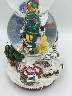 Disney Store Tinker Bell Lights Christmas Snowglobe 95427 Snow White Tinkerbell