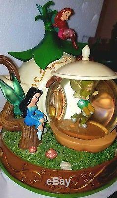 Disney TINKERBELL & The Lost Treasure Fairies SNOW GLOBE/TEAPOT & Original Box