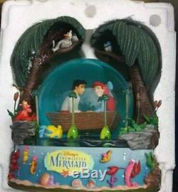 Disney The Little Mermaid Kiss The Girl Snow Globe In Original Styrofoam
