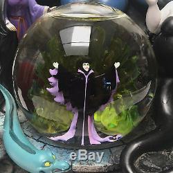 Disney Villains Chernabog Ursula Evil Queen Maleficent Jafar Musical Snow Globe