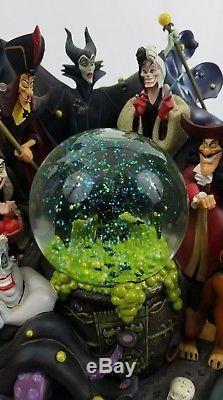 Disney Villains Water Snow Globe Music Box Grim Grinning Ghost Maleficent