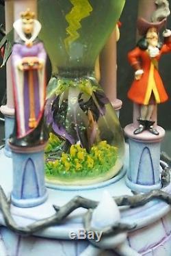 Disney Villians Hourglass Snowglobe Lights Up & Make Storm Noise