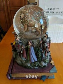 Disney Water Globe CHRONICLES NARNIA Musical RARE Box Lights Up Swirl Snow Works