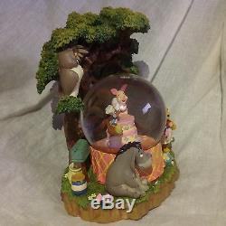 Disney Winnie The Pooh BIRTHDAY PARTY Musical Blower Figurines Snowglobes-MIB