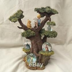 Disney Winnie the Pooh Tree Statue Figurines Multiple Mini SnowGlobe
