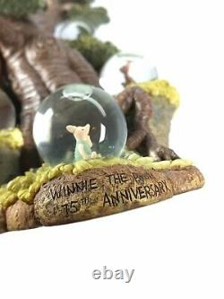 Disney Winnie the Pooh Tree with Multiple Mini Snow Globes 75th Anniversary. Read