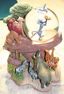 Disney lion king snow globe circle of life simba pride rock musical motion zazu