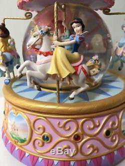 Disney multi princess carousel snow globe Ariel, Snow White, Cinderella, Belle