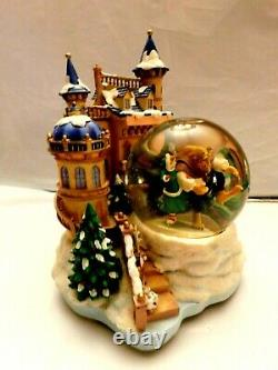 Disney's Beauty and the Beast Ice Skating Castle Christmas Large Snow Globe