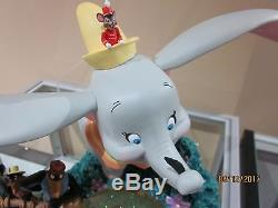 Disney's Dumbo Snow Globe Believe There Is Magic In The Stars New In Box Rare