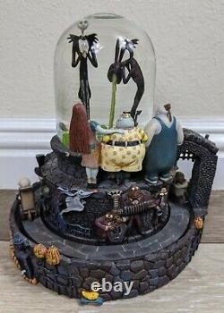 Disney's The Nightmare Before Christmas Halloween Town Snow Globe With Light