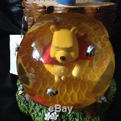 Disney's WINNIE The Pooh STUCK IN THE HUNNY Musical Snowglobe