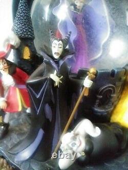 Disney villains snow dome snow globe limited rare music box collection Ursula