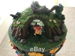 Disneyland Alice In Wonderland Hourglass Snow globe Music Box FREE INS SHIPPING