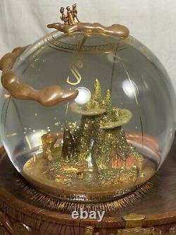 Disneys Peter Pan 50th Anniversary Musical Light Up Snow Globe Very Rare