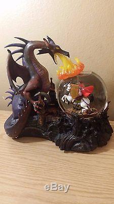 Dragon Maleficent vs Prince Phillip Disney Musical Snowglobe Sleeping Beauty