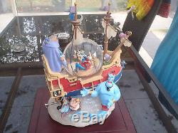 Extremely Rare! Walt Disney Characters Boat Big Snowglobe Statue