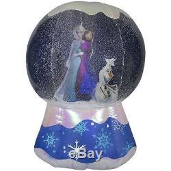 GEMMY Disney Frozen Elsa 6-ft Lighted Snow Globe Christmas Inflatable
