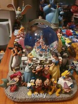 Gorgeous Disney Land Paris XL Vintage Musical Snow Globe Damaged RRP£350