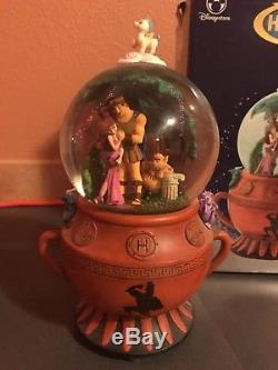 HERCULES Musical Urn Snow Globe Go The Distance Disney Store 2007 New