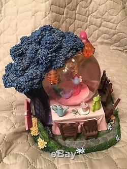 HTF Disney Alice In Wonderland GOLDEN AFTERNOON Musical Lighted Snow Globe