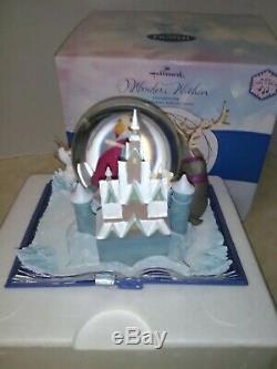Hallmark Disney Frozen Water Globe Snow Wonders Within Plays Let It Go NIB