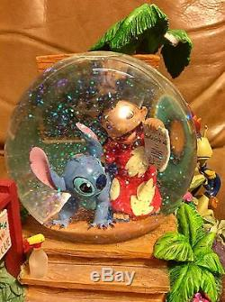 LILO AND STITCH SNOW GLOBE Disney Store Aloha Animal Rescue AS IS Breaks OOP HTF