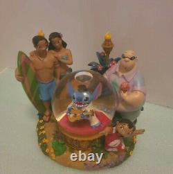 LILO And Stitch w FamilyDisney Snow Globe With Stitch As Elvis- Rare wDamage