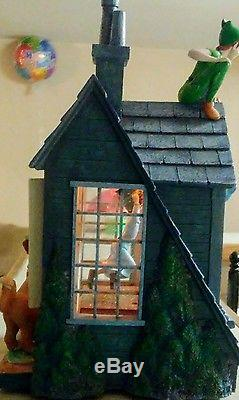 Large Disney Peter Pan You Can Fly Light Up House Snowglobe