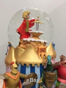 Limited Edition DISNEY SWORD IN THE STONE Snow Globe Music Box VERY RARE READ