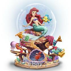 Little Mermaid Ariel Sebastian Glitter Disney Water Globe Snowdome Musical