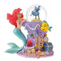 Little Mermaid Ariel Snow Globe Dome Figure 30th Anniversary Limited Disney