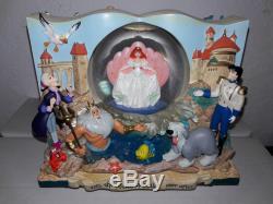 Little Mermaid Storybook Musical Snowglobe Disney Ariel Double Sided Wedding