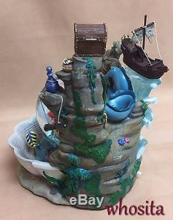 MLM Disney's The Little Mermaid Ariel Snow Globe Snowglobe Fountain Figurine