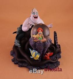 MLM Disney's The Little Mermaid Ariel Ursula Figurine Snowglobe Snow Globe