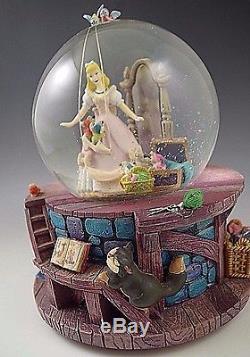 Mib Cinderella Walt Disney Snow Globe Musical Box Retired Very Rare