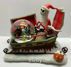 Musical Disney Nightmare Before Christmas SANTA JACK SLEIGH Figures snow Globe