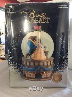 NEW RARE Beauty And The Beast Disney Snow globe
