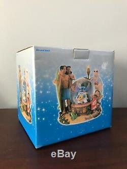 NEW RARE Disney Lilo and Stitch ALOHA OE ELVIS Musical Figurines Snowglobe NIB