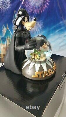 NEW in BOX Disney Star Wars Darth Vader Goofy Snow Globe Jedi Mickey Stitch Yoda