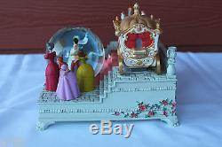 Nib Disney Store Cinderella Wedding Rare Limited Ed 60th Anniv Musical Snowglobe