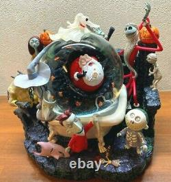Nightmare Before Christmas Big Snow Globe Light Up With Music Box Disney H11inch